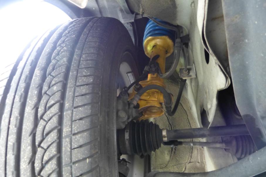 ミラジーノサス&ショックアブソーバー交換車高下げた車用ショートストロークkayabaダンパー