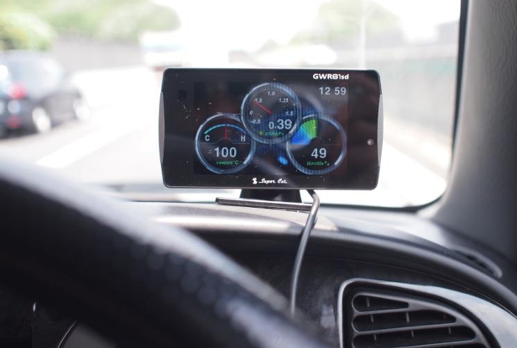 ユピテルのレーダー探知機スーパーキャット81SDをOBDⅡ接続ミラジーノにブースト計と水温計追加!