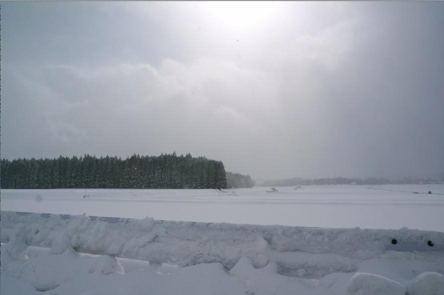 湖西線 琵琶湖の冬景色