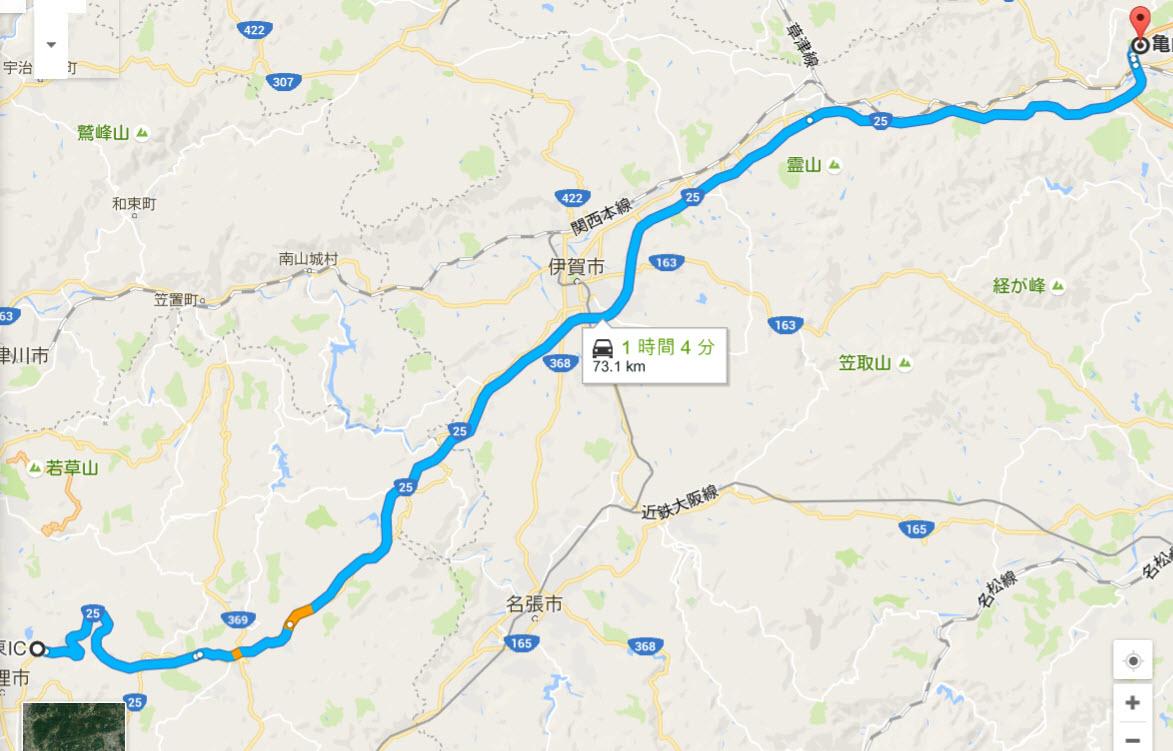 名阪国道Ωカーブの旋回可能速度と天理亀山区間タイムの目安