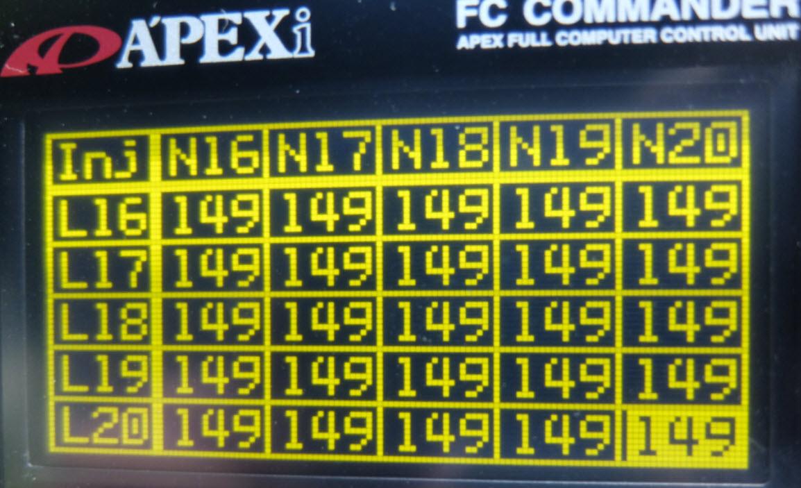 パワーFC設定メモ180sxノーマルタービン仕様FCコマンダーによるセッティング