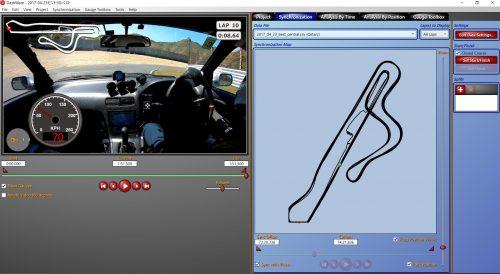 QSTARZ LT-Q6000Sでサーキット走行動画に車速やタイムを表示合成する方法